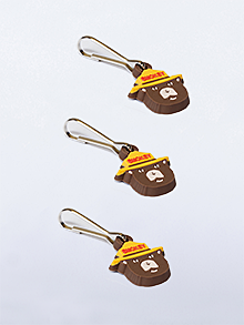 Smokey Bear Zipper Pulls (set of 100)