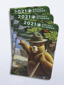 2021 Smokey Bear Pocket Planners (set of 50)
