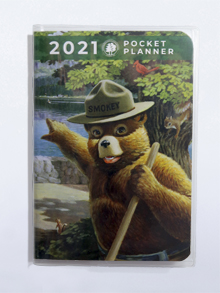 2021 Smokey Bear Pocket Planner and Vinyl Cover